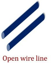 open wire line