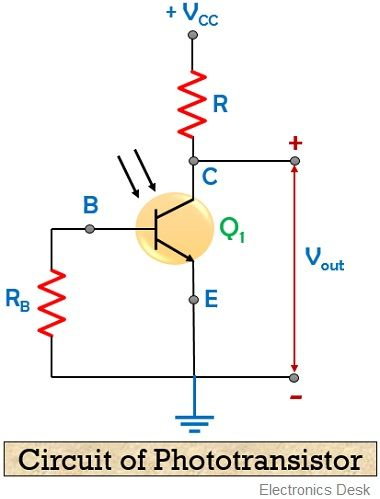 Circuit diagram of Phototransistor