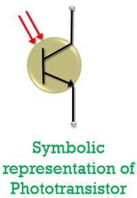 symbol of phototransistor