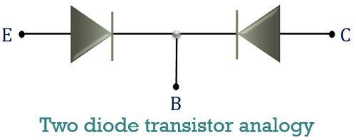 two transistor analogy of pnp transistor