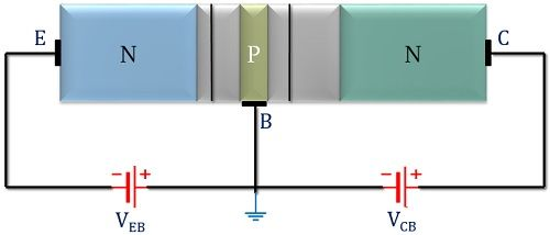 npn transistor biasing arrangement