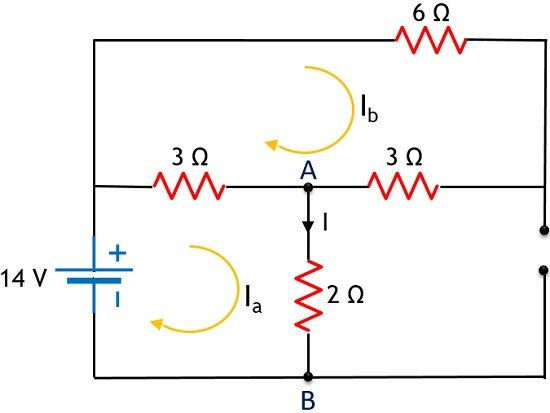 circuit for superposition theorem example - 1