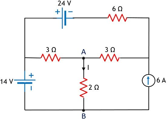 circuit for superposition theorem example