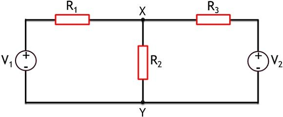 circuit for superposition's theorem theory