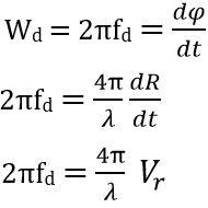 doppler frequency eq3'