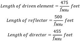 yadi-uda antenna length equation