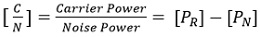 carrier to noise power ratio eq1