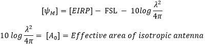 equation for satellite uplink eq6