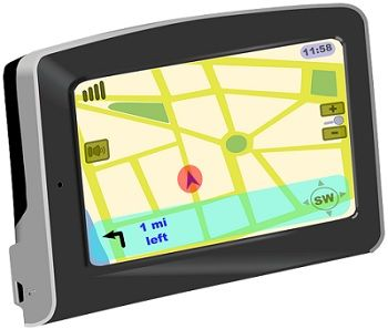 screen showing location of an object which is under satellite navigation