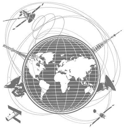 pictorial representation of satellite constellation